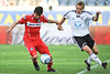 22 May2010:  Chicago Fire forward Stefan Dimitrov (7) moves past Legia Warsaw defender Jakub Rzezniczak (25) during the consolation match of the Chicago Sister Cities Cup between the Chicago Fire and Legia Warsaw at Toyota Park in Bridgeview, Illinois.  Legia Warsaw defeated the Fire 3-0.<br /> Mandatory Credit: John Rowland / Southcreek Global