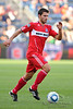 22 May2010:  Chicago Fire midfielder Peter Lowry (8) during the consolation match of the Chicago Sister Cities Cup between the Chicago Fire and Legia Warsaw at Toyota Park in Bridgeview, Illinois.  Legia Warsaw defeated the Fire 3-0.<br /> Mandatory Credit: John Rowland / Southcreek Global
