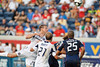 17 July10:  Chicago Fire forward Brian McBride (20) heads a corner kick over the net during the Group B Superliga match between the Chicago Fire and the New England Revolution at Toyota Park in Bridgeview, Illinois. The Revolution defeated the Fire 1-0.<br /> Mandatory Credit: John Rowland / Southcreek Global