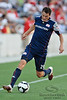 17 July10:  New England midfielder Marko Perovic (29) keeps an errant pass inbounds during the Group B SuperLiga match between the Chicago Fire and the New England Revolution at Toyota Park in Bridgeview, Illinois. The Revolution defeated the Fire 1-0.<br /> Mandatory Credit: John Rowland / Southcreek Global