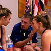 Olivia Blatchford and coaches Jack Wyant and Natalie Grainger