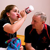 Tesni Evans (Wales) and her coach