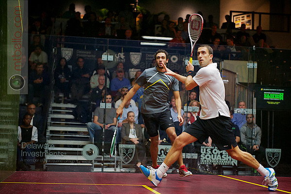 2012 Deleware Investments U.S. Open Squash Championships - Quarterfinals: Ramy Ashour (Egypt) defeated Peter Barker (England)