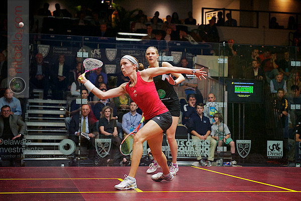 2012 Deleware Investments U.S. Open Squash Championships: Laura Massaro (England) defeated Madeline Perry (Ireland)