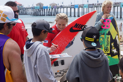 Pretty Professional Woman Surfer @ Huntington Beach
