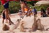 Ryan Vandenburg and Skylar DelSol kick up some sand