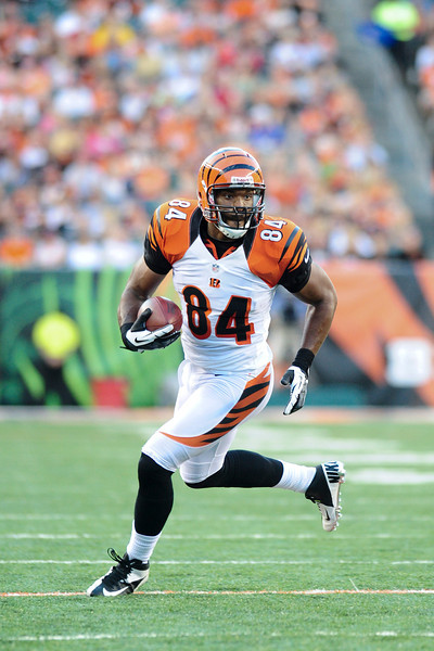 Cincinnati Bengals tight end Jermaine Gresham #84 during the game. The Cincinnati Bengals lead the New York jets 10 to 3 in the first half at Paul Brown Stadium in Cincinnati, Ohio.