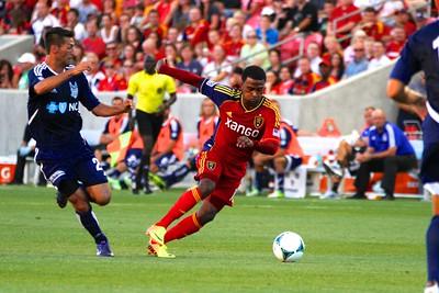 Real Salt Lake vs Carolina Railhawks * Open Cup 6-26-2013. Robbie Findley (10)