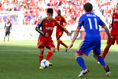 Real Salt Lake vs Colorado Rapids 3-16-2013. Sebastian Velasquez (26)