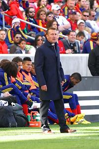 Real Salt Lake vs Colorado Rapids 3-16-2013. Coach Jason Kreis