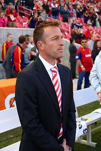 Real Salt Lake vs Colorado Rapids 3-16-2013. Coach Jason Kreis