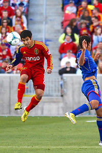 Real Salt Lake vs Colorado Rapids 3-16-2013. Tony Beltran (2)
