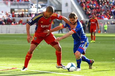 Real Salt Lake vs Colorado Rapids 3-16-2013. Alvaro Saborio (15)