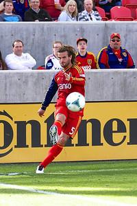 Real Salt Lake vs Colorado Rapids 3-16-2013. Kyle Beckerman (5)