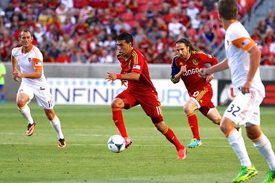 Real Salt Lake vs Houston Dynamo 8-10-2013. RSL defeats Houston 1-0. Javier Morales (11)