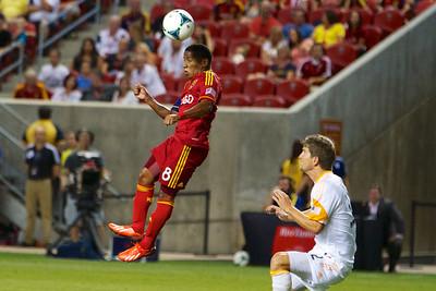 Real Salt Lake vs Houston Dynamo 8-10-2013. RSL defeats Houston 1-0. Joao Plata (8)