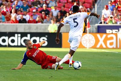 Real Salt Lake vs Houston Dynamo 8-10-2013. RSL defeats Houston 1-0. Chris Wingert (17)