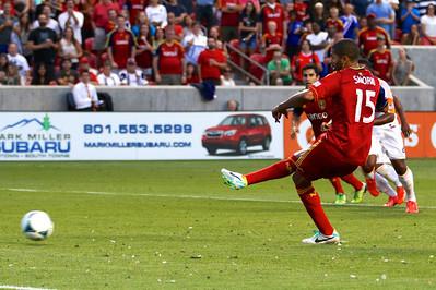 Real Salt Lake vs Houston Dynamo 8-10-2013. RSL defeats Houston 1-0. Álvaro Saborío (15)