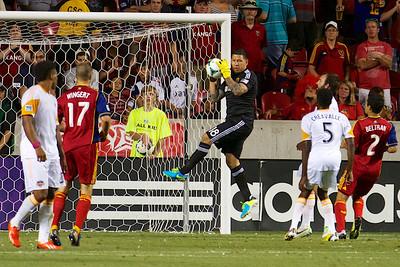 Real Salt Lake vs Houston Dynamo 8-10-2013. RSL defeats Houston 1-0. Nick Rimando (18)