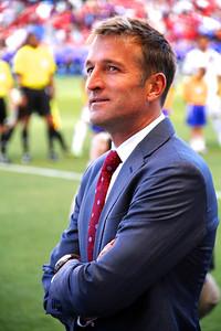 Real Salt Lake vs Los Angeles Galaxy 4-27-2013. Coach Jason Kreis
