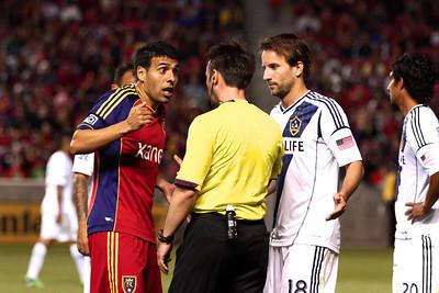 Real Salt Lake vs Los Angeles Galaxy 4-27-2013. Javier Morales (11)