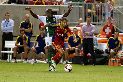 Real Salt Lake vs Portland Timbers • Open Cup 8-7-2013. RSL defeats Portland 2-1. Álvaro Saborío (15)