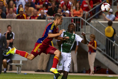 Real Salt Lake vs Portland Timbers • Open Cup 8-7-2013. RSL defeats Portland 2-1. Luis Gil (21)