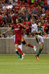 Real Salt Lake vs Portland Timbers • Open Cup 8-7-2013. RSL defeats Portland 2-1. Kyle Beckerman (5)