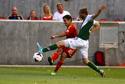 Real Salt Lake vs Portland Timbers • Open Cup 8-7-2013. RSL defeats Portland 2-1. Tony Beltran (2)