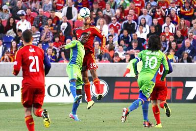 Real Salt Lake vs Seattle Sounders FC  3-30-2013. Chris Schuler (28)