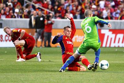 Real Salt Lake vs Seattle Sounders FC  3-30-2013. Luis Gil (21)