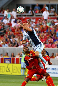 Real Salt Lake vs Sporting KC 7-20-2013. RSL loses to Sporting KC 1 -2. Robert Findley (10)