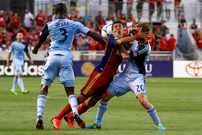 Real Salt Lake vs Sporting KC 7-20-2013. RSL loses to Sporting KC 1 -2. Javier Morales (11)