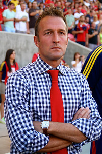 Real Salt Lake vs Sporting KC 7-20-2013. RSL loses to Sporting KC 1 -2. Coach Jason Kreis