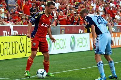 Real Salt Lake vs Sporting KC 7-20-2013. RSL loses to Sporting KC 1 -2. Luis Gil (21)
