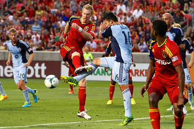 Real Salt Lake vs Sporting KC 7-20-2013. RSL loses to Sporting KC 1 -2. Nat Borchers (6)
