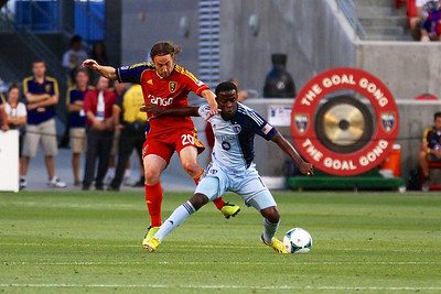Real Salt Lake vs Sporting KC 7-20-2013. RSL loses to Sporting KC 1 -2. Ned Grabavoy (20)