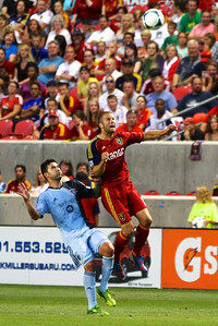 Real Salt Lake vs Sporting KC 7-20-2013. RSL loses to Sporting KC 1 -2. Chris Wingert (17)