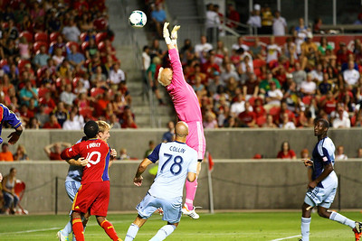 Real Salt Lake vs Sporting KC 7-20-2013. RSL loses to Sporting KC 1 -2.