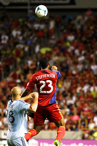 Real Salt Lake vs Sporting KC 7-20-2013. RSL loses to Sporting KC 1 -2. Khari Stephenson (23)