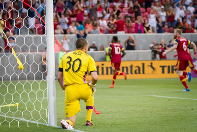 Real Salt Lake vs Montreal Impact at Rio Tinto Stadium 07-24-2014. RSL defeats Montreal 3 - 1