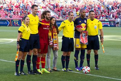 Real Salt Lake vs New York Red Bulls at Rio Tinto Stadium 07-30-2014. RSL draws with New York 1 - 1