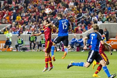 Real Salt Lake vs San Jose Earthquakes at Rio Tinto Stadium 10-11-2014. RSL defeats San Jose 2-0.