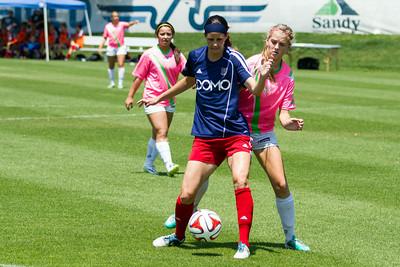 Real Salt Lake Women vs West Coast Wildkatz at America First Field 07-06-2014. RSL Women won 3-0.