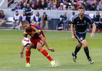 Real Salt Lake vs NYCFC on 5-24-2015 at Rio Tinto Stadium. RSL defeats NYCFC 2-0.