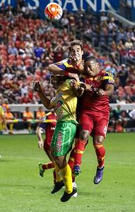 Real Salt Lake vs Santa Tecla FC on 9-19-2015 at Rio Tinto Stadium in the Concacaf Champions League. RSL Santa Tecla FC 2-1.   ©2015  Bryan Byerly
