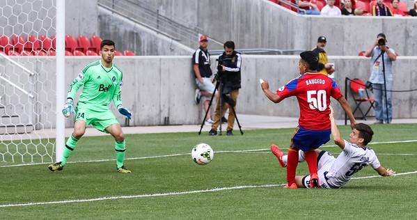Real Monarchs vs Vancouver Whitecaps FC 2 at Rio Tinto Stadium 06-03-2015. The Monarchs draw with the Whitecaps FC 2 2-2.
