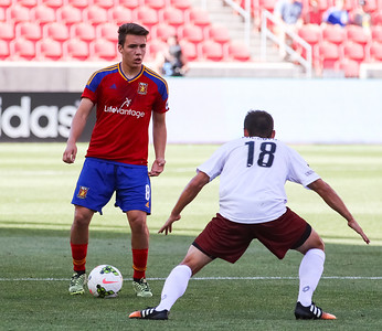 Real Monarchs SLC vs Sacramento Republic at Rio Tinto Stadium 07-01-2015. The Monarchs draw the Republic 1-1.