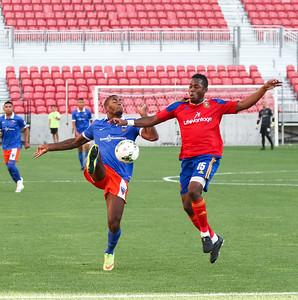 Real Monarchs SLC vs Orange County Blues at Rio Tinto Stadium 08-01-2015. The Monarchs lose to the Blues 1-2.