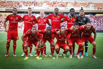 Real Salt Lake versus New York Red Bulls at Rio Tinto Stadium on 06-22-2016. RSL defeats the Red Bulls 2-1. #asone  #believe  #RSL  ©2016 Bryan Byerly